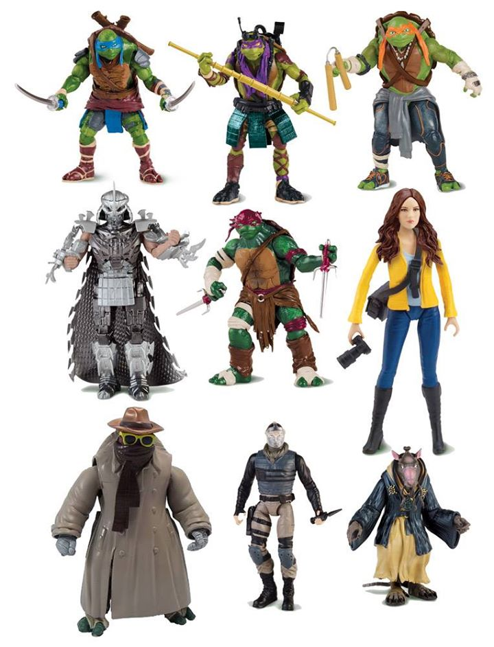 Tmnt Movie Toys : Official pic of tmnt movie toys turtles shredder