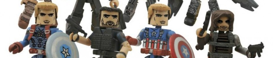 Captain America Winter Soldier Minimates Comic Shop Assortment