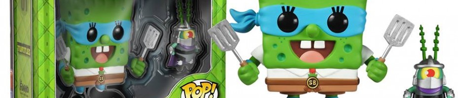 SpongeBob SquarePants Leonardo and Shredder Plankton Pop Vinyl Figures