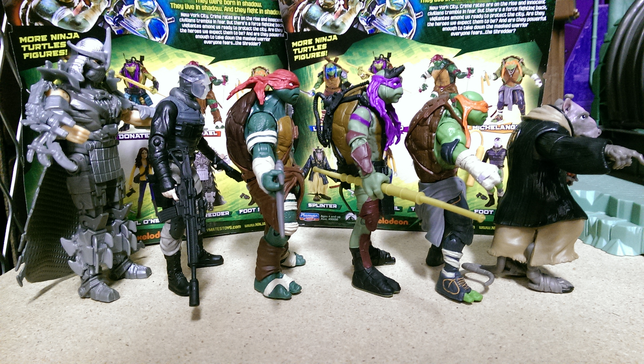 Tmnt Movie Toys : Tmnt out of package pics and new toys the toyark