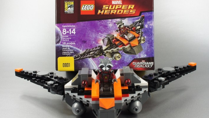 LEGO SDCC 2014 Guardians of the Galaxy Rocket Raccoon's Warbird Unboxing Photo Shoot