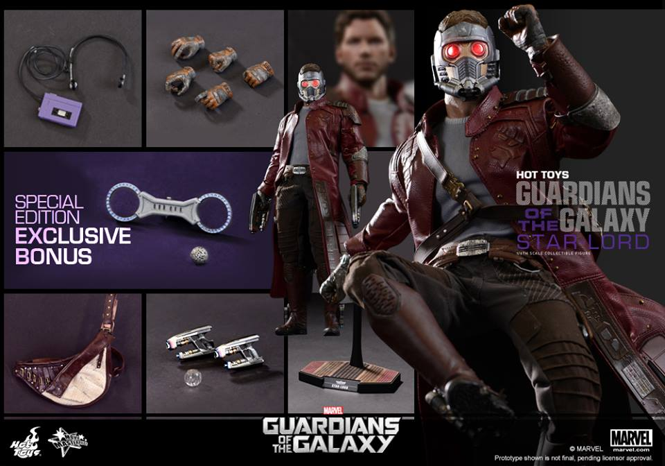 Accessories for Guardians of the Galaxy Star Lord by Hot Toys
