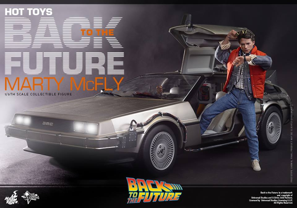 Hot Toys Back to the Future Marty McFly with DeLorean