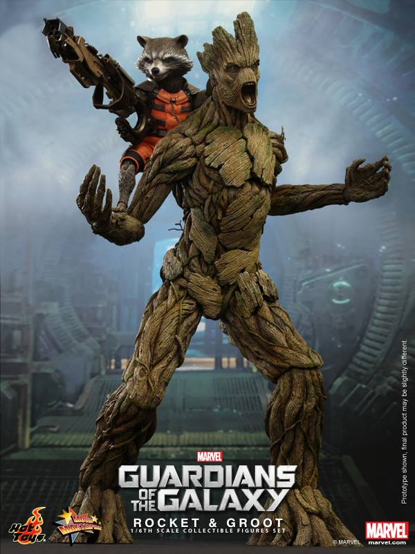 Hot toys guardians of the galaxy rocket raccoon and groot set 001