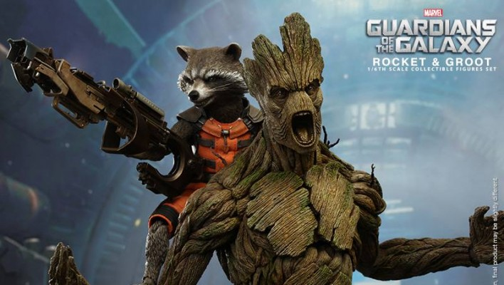 Hot Toys Rocket Raccoon and Groot