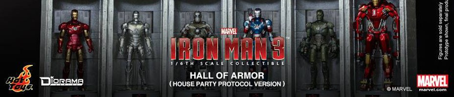Iron Man 3 House Party Protocol Hall of Armor Hot Toys 001