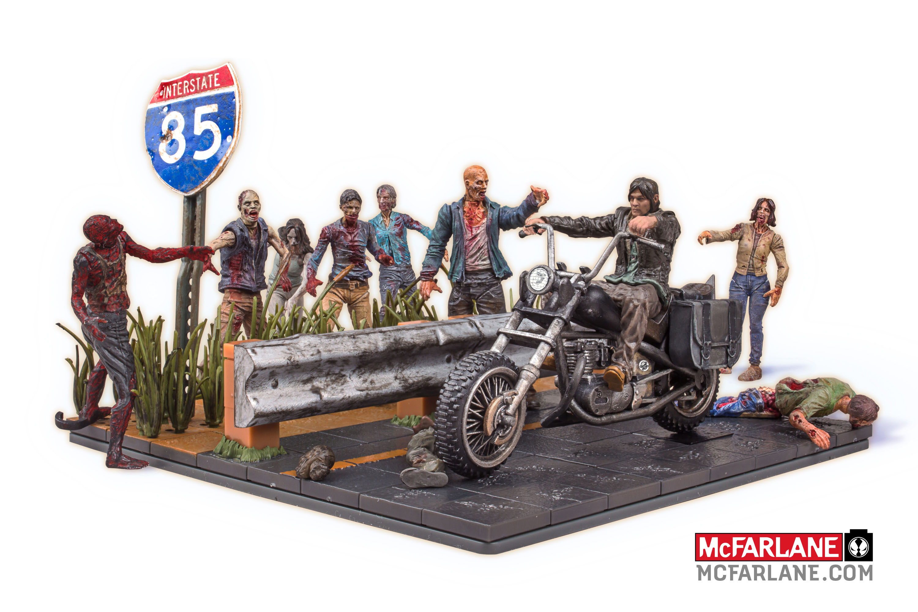 Walking dead lego daryl the walking - Mcfarlane Toys Launching The Walking Dead Building Block Sets