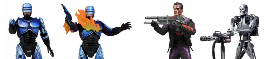 Robocop vs Terminator Video Game Figures by NECA