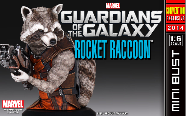 Rocket Raccoon Mini Bust for SDCC