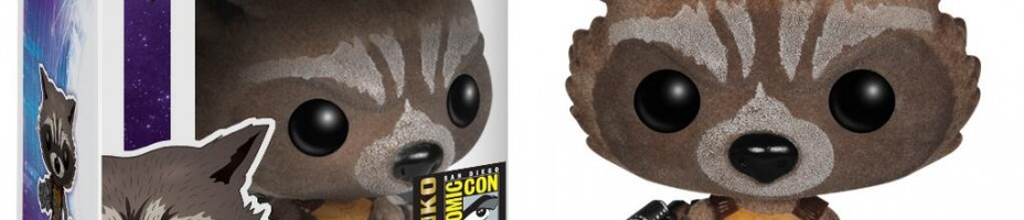 SDCC Guardians of the Galaxy Flocked Rocket Pop