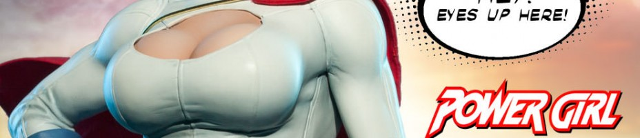 Sideshow Power Girl Premium Format Figure Preview