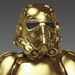 Golden Stormtrooper Bust 1