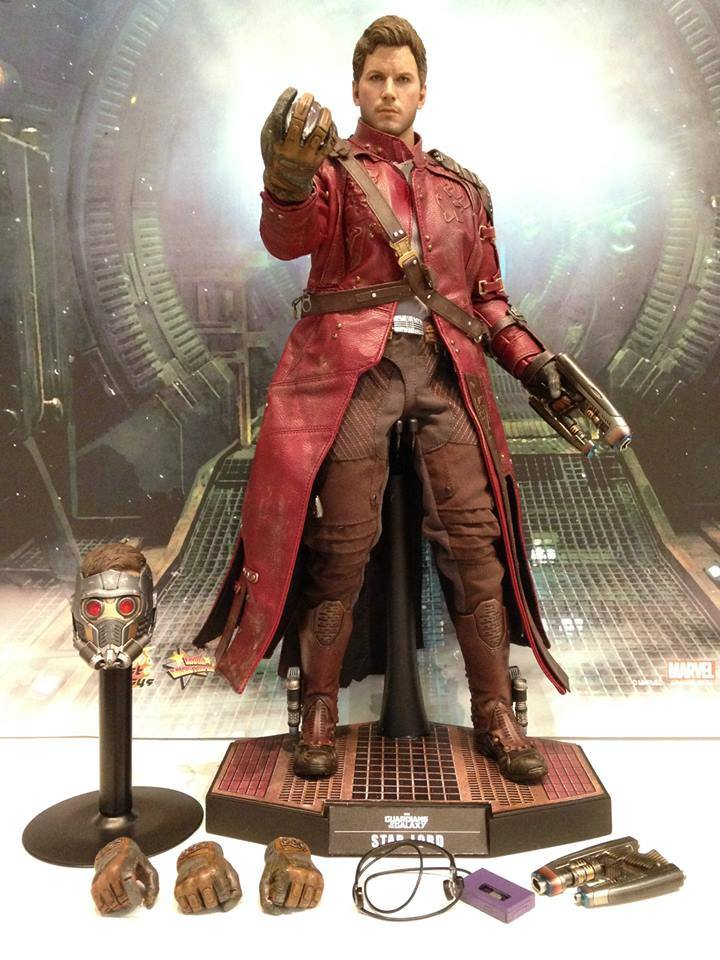 Action Figures: Marvel, DC, etc. Hot-Toys-Guardians-of-the-Galaxy-Star-Lord-Unmasked