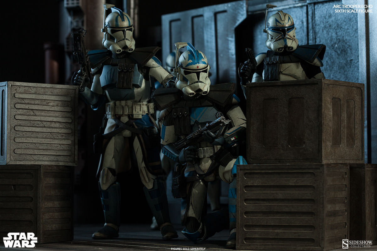[Sideshow] Star Wars: Arc Clone Troopers - Echo and Fives Sixth Scale Figures Star-Wars-ARC-Clone-Troopers-Sixth-Scale-Figures-3