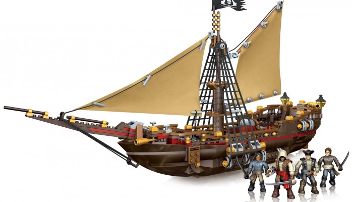 Mega Bloks Assassin's Creed Update Gunboat Takeover and Pirate Crew Pack