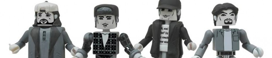 Clerks Black and White Minimates 4 Figure Set 3