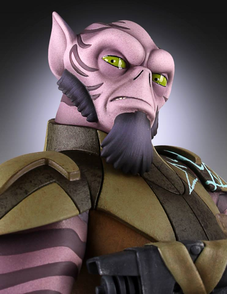star wars rebels zeb maquette update the toyark news
