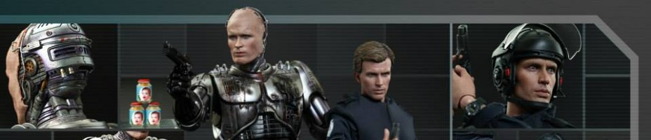 Hot Toys Battle Damaged Robocop and Alex Murphy Set 001