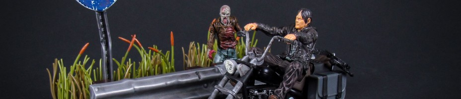 Walking Dead Daryl Dixon with Motorcycle Building Set 028