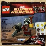 rocket racoon lego super heroes 2015 poly bag tru exclusive