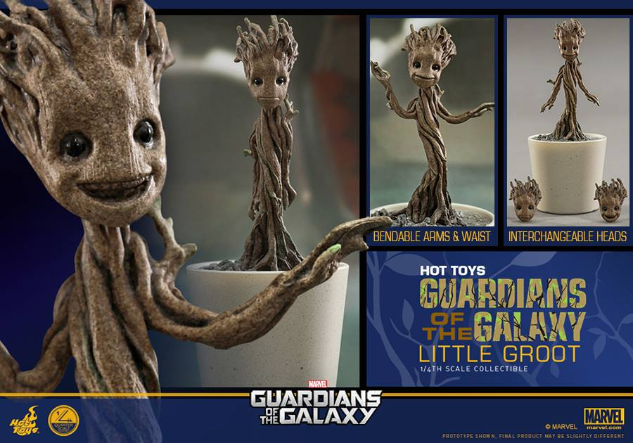 hot toys 1  4 scale baby groot - the toyark