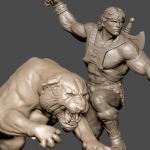 PCs He Man and Battle Cat Dio Preview