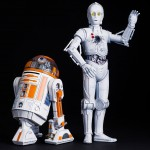 R3 A2 and K 3PO ARTFX Statues 003