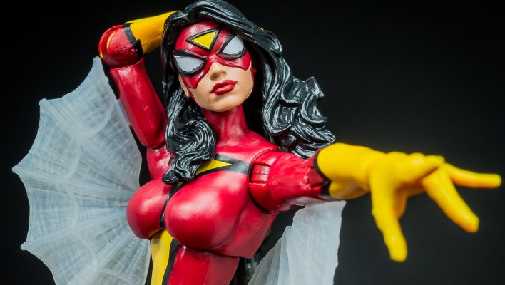 Marvel Legends Spider Woman Thanos Wave Photo Shoot