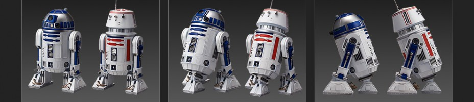 Bandai Star Wars R2 D2 and R5 D4 Figures 003