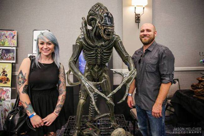 A Few Photos Of The Life Size Alien Warrior Statue The