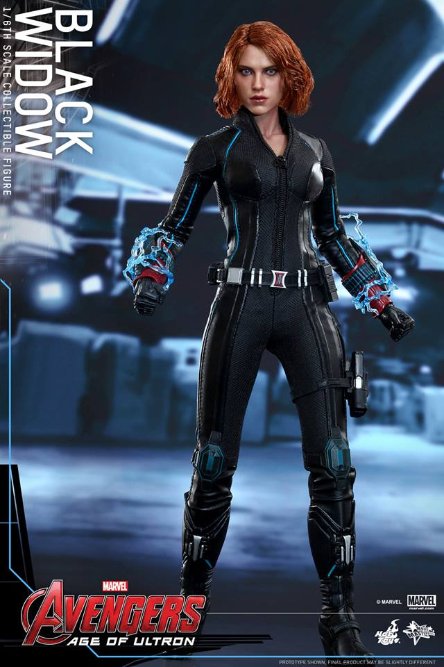 avengers age of ultron black widow by hot toys the