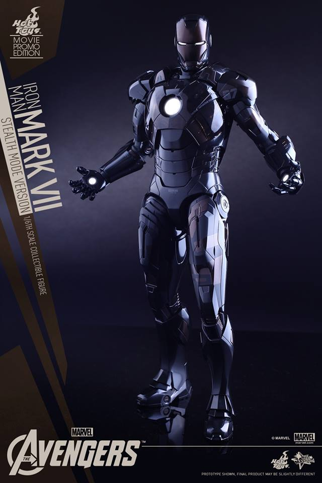 avengers iron man mark vii stealth edition figure by hot