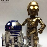 Star Wars Hybrid Metal Figuration C 3PO and R2 D2 Figures