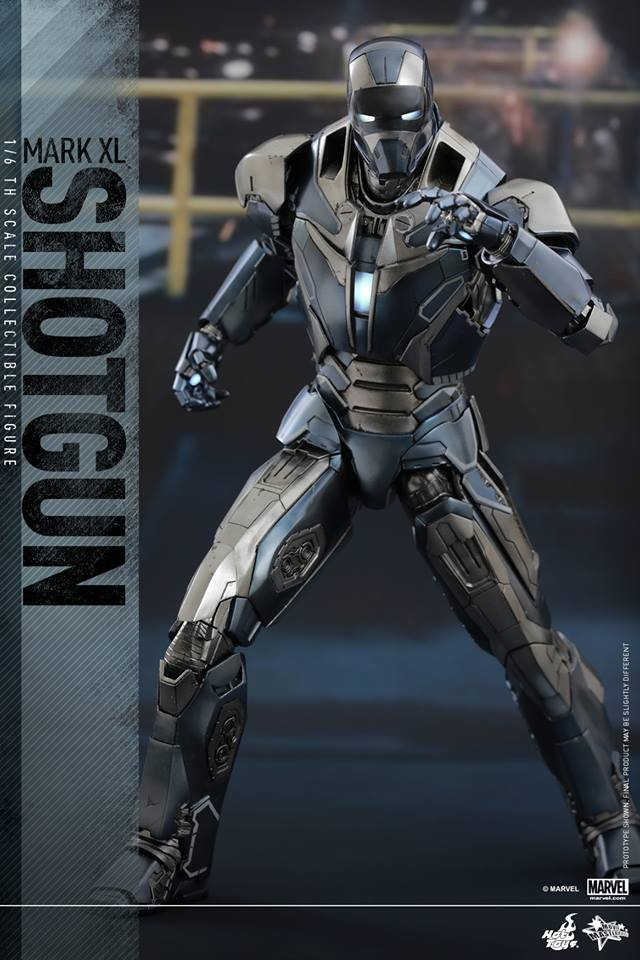 hot toys iron man shotgun armor images and info the