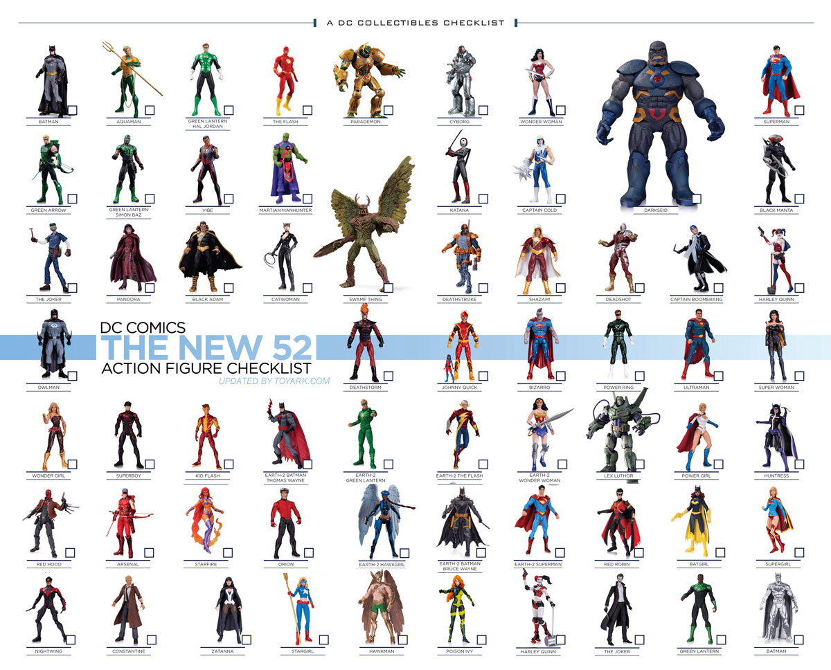 DC Collectibles New 52 Check List Updated