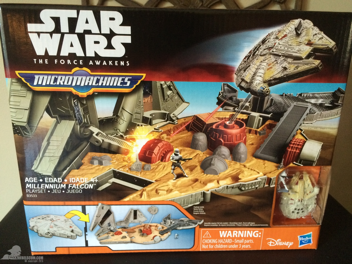 star wars the force awakens battle action millennium falcon instructions