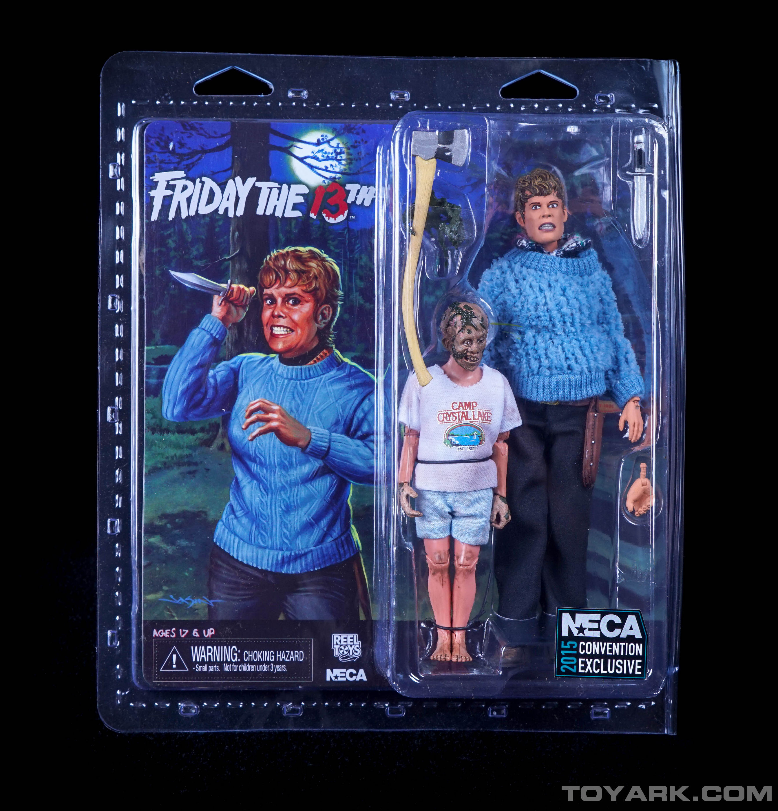 sdcc 2015 friday the 13th pamela and jason voorhees retro 2 pack