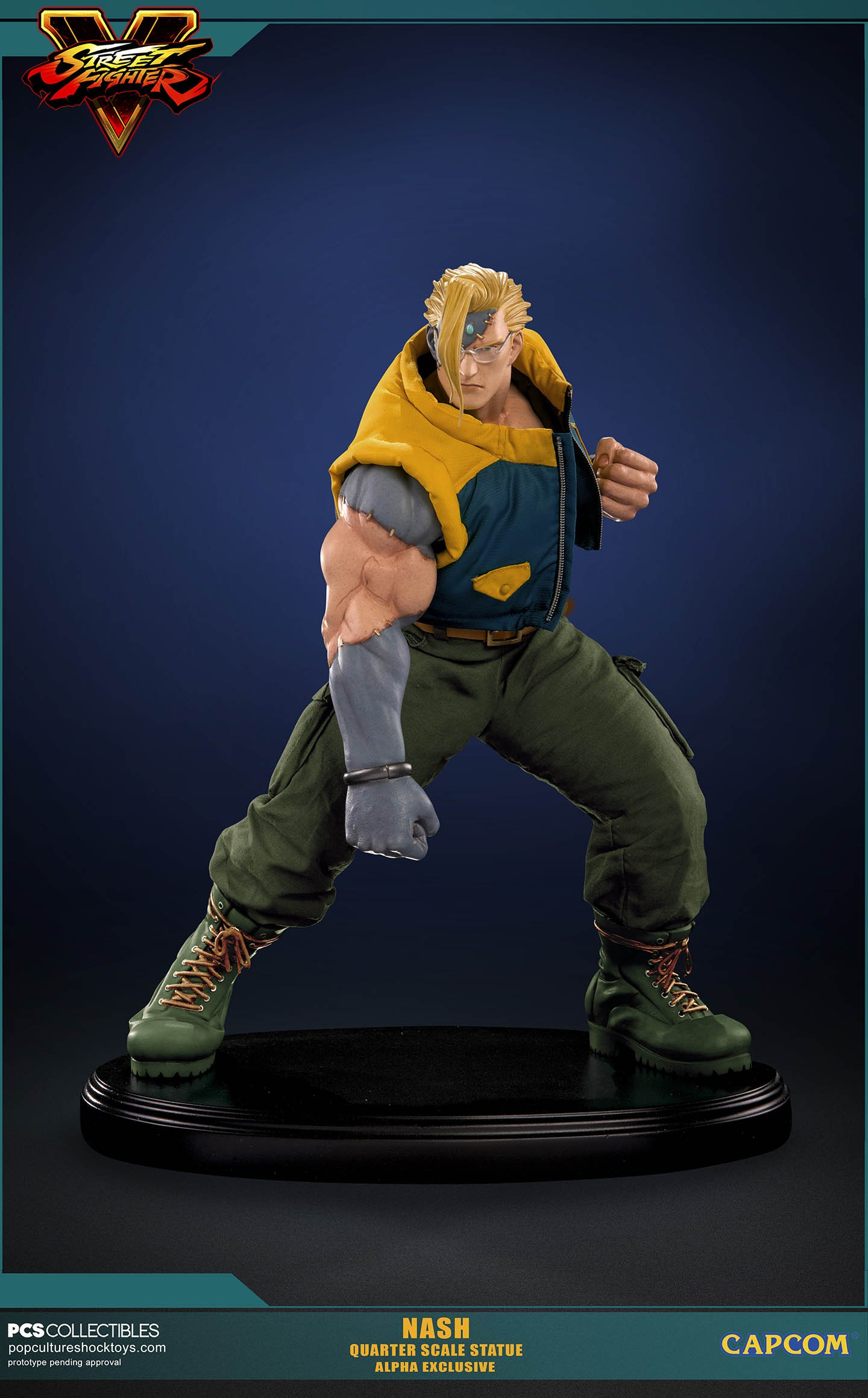 Street Fighter V Nash Statue Photos and Info