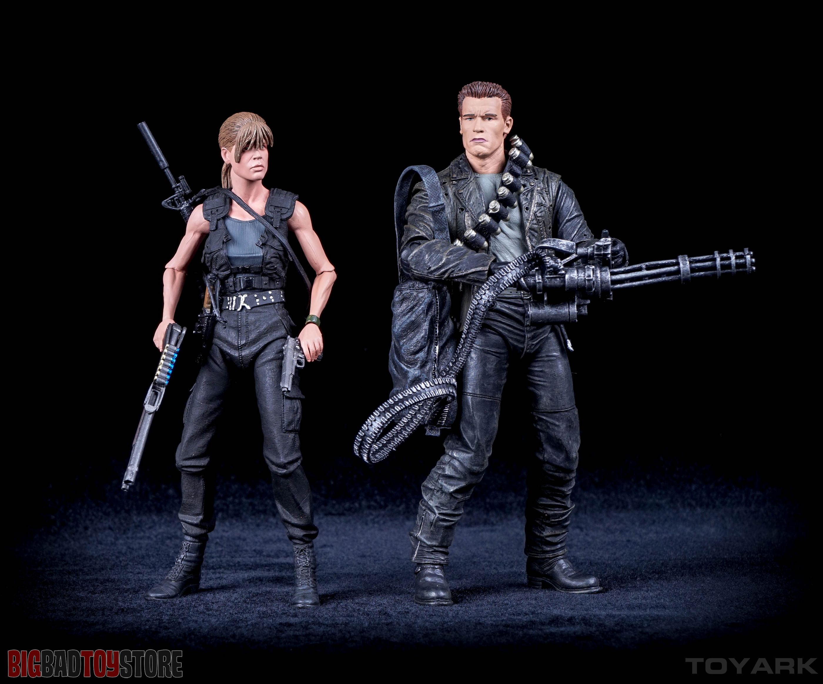 Sarah Connor, John Connor and the T-800 in Terminator 6