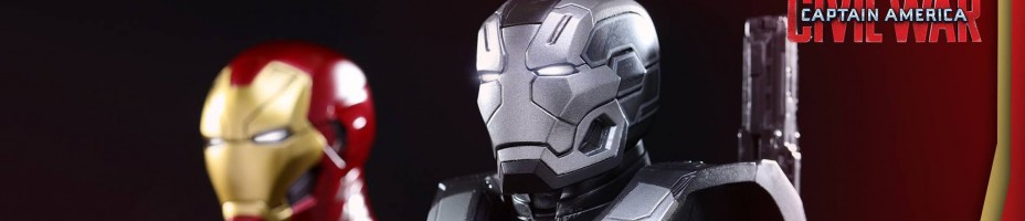 Civil War Iron Man and War Machine Busts Hot Toys 002