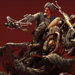 Daryl Dixon Motorcycle Statue