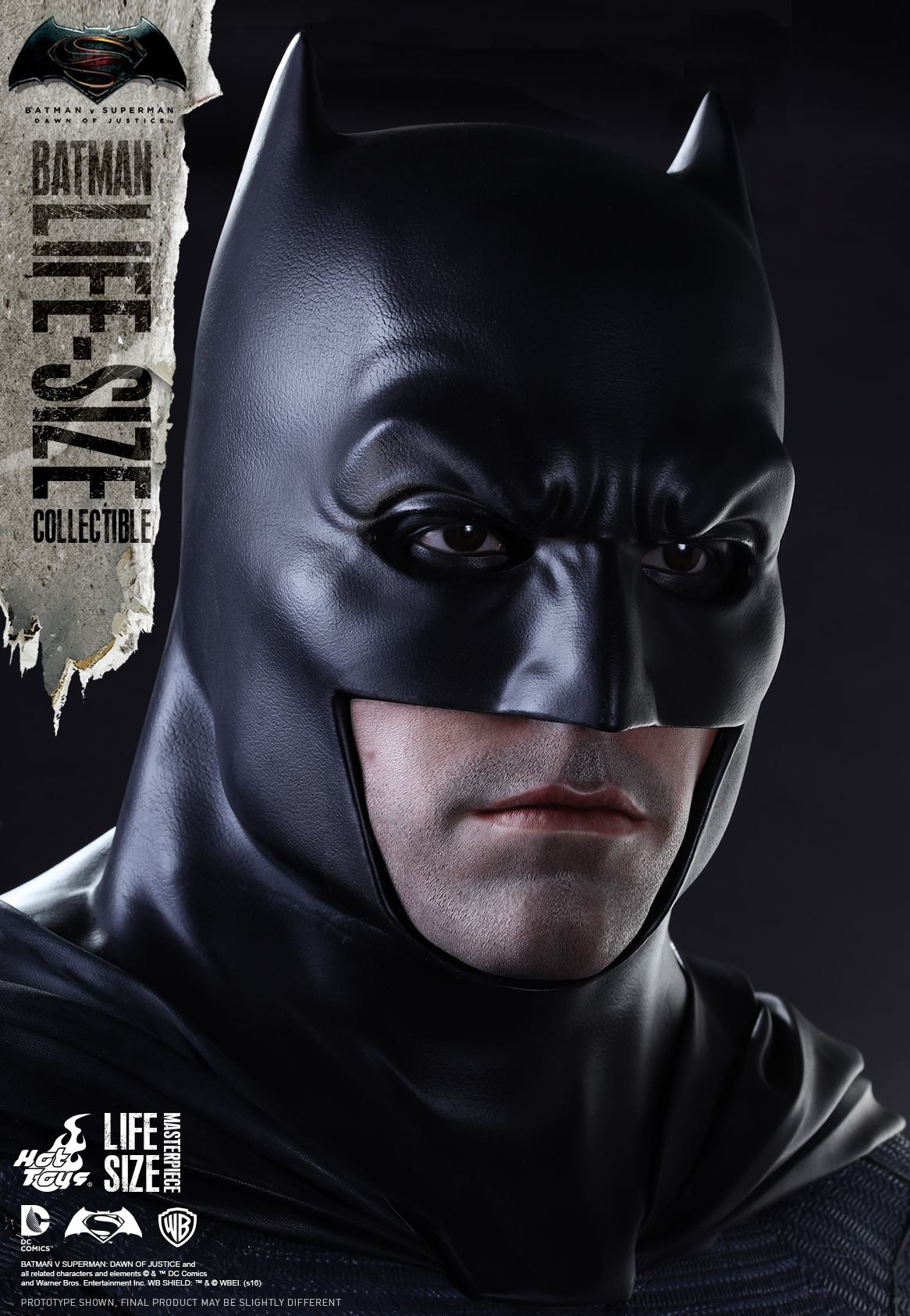 batman v superman life size batman statue by hot toys. Black Bedroom Furniture Sets. Home Design Ideas