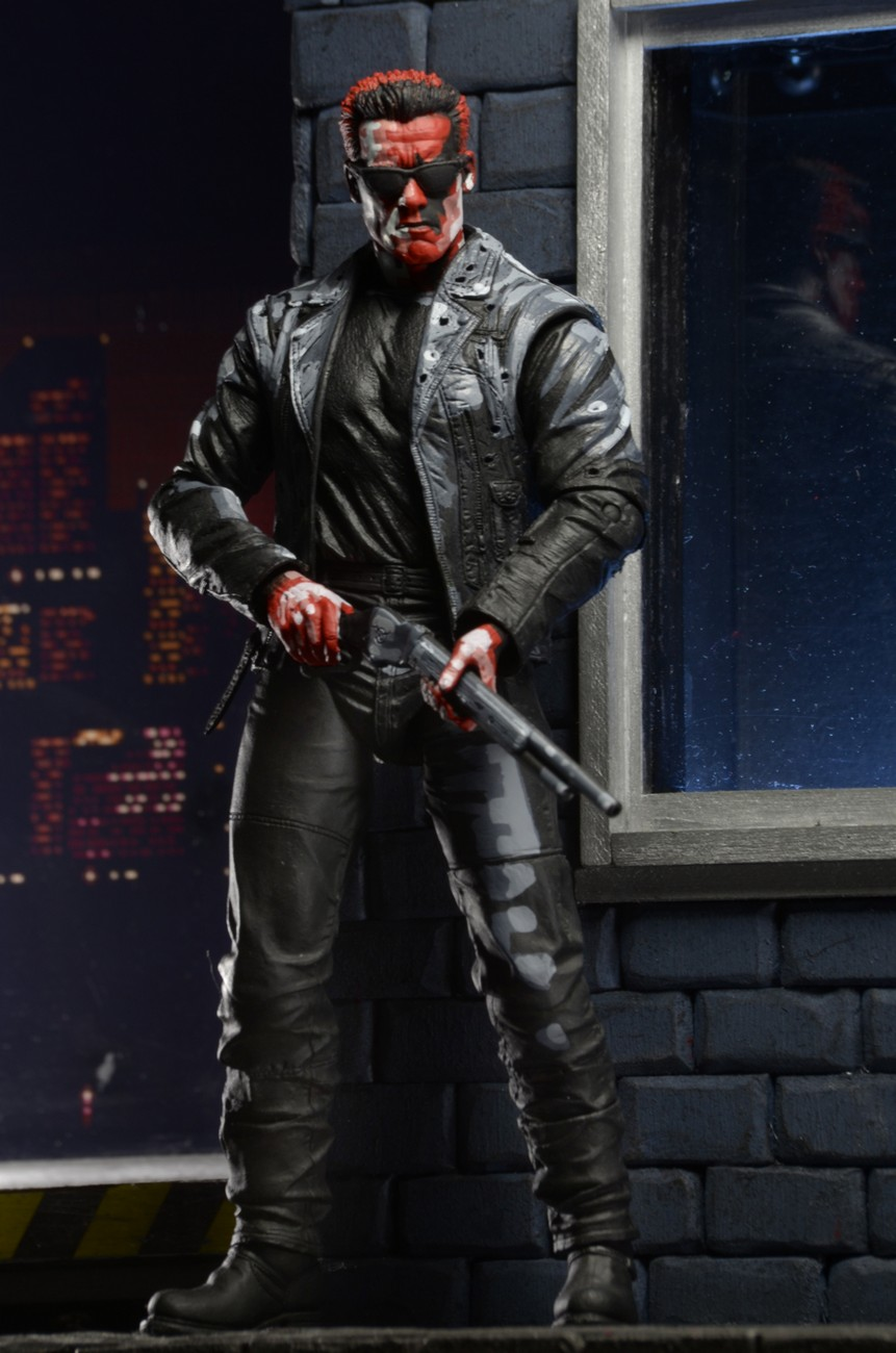 New Official Photos of Terminator 2 T-800 Video Game Appearance by NECA