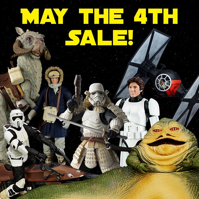 Han Solo May The Fourth Be With You: Big Bad Toy Store May The 4th Star Wars Sale