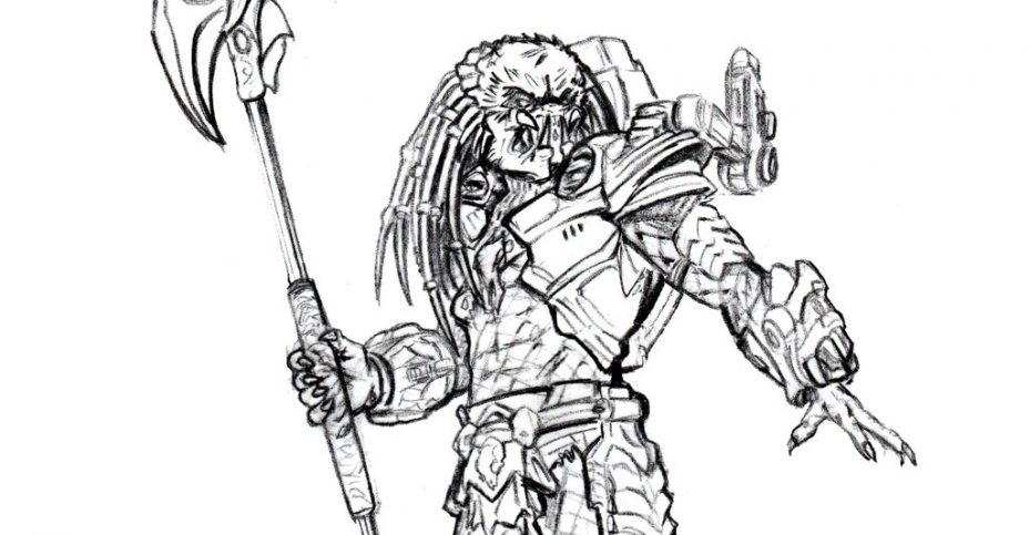 Card Art Preview For NECA Clan Leader Predator The