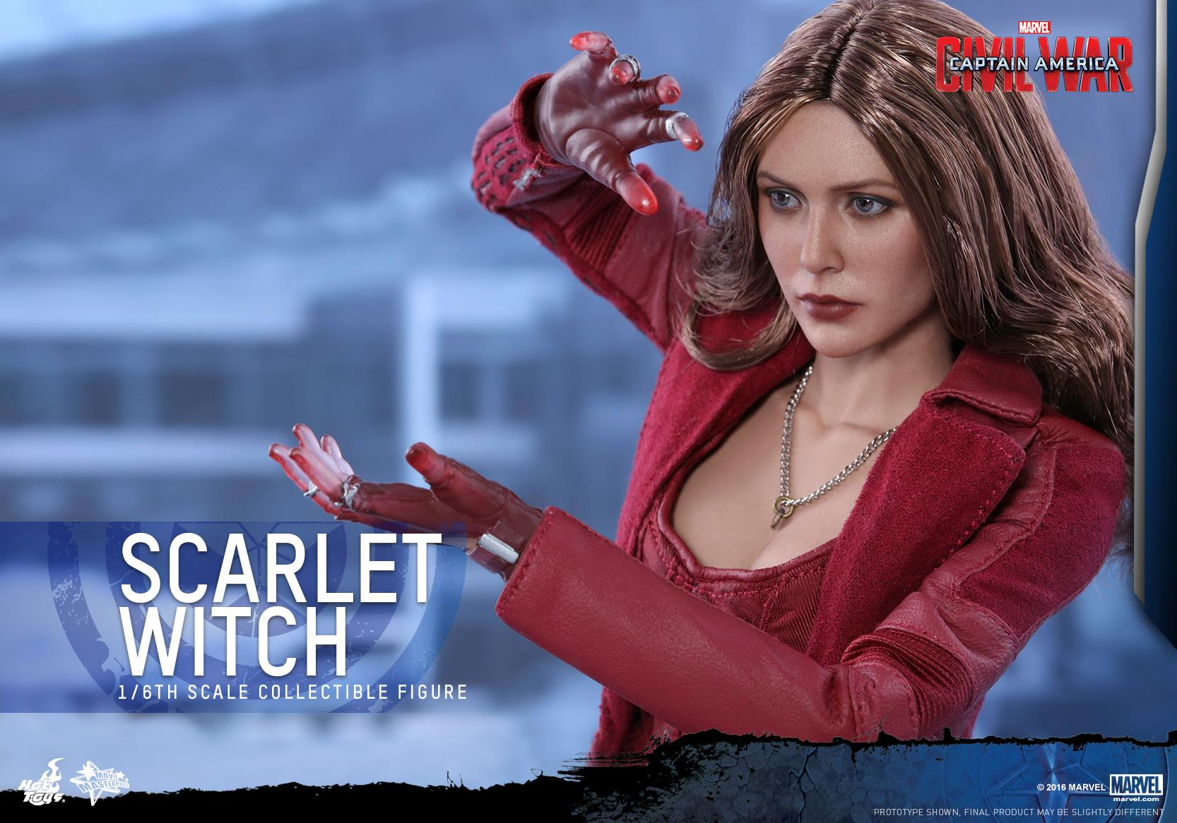 Captain America: Civil War Scarlet Witch Figure by Hot Toys - The ...