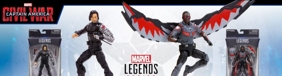 Marvel Legends 2016 Civil War Bucky and Falcon
