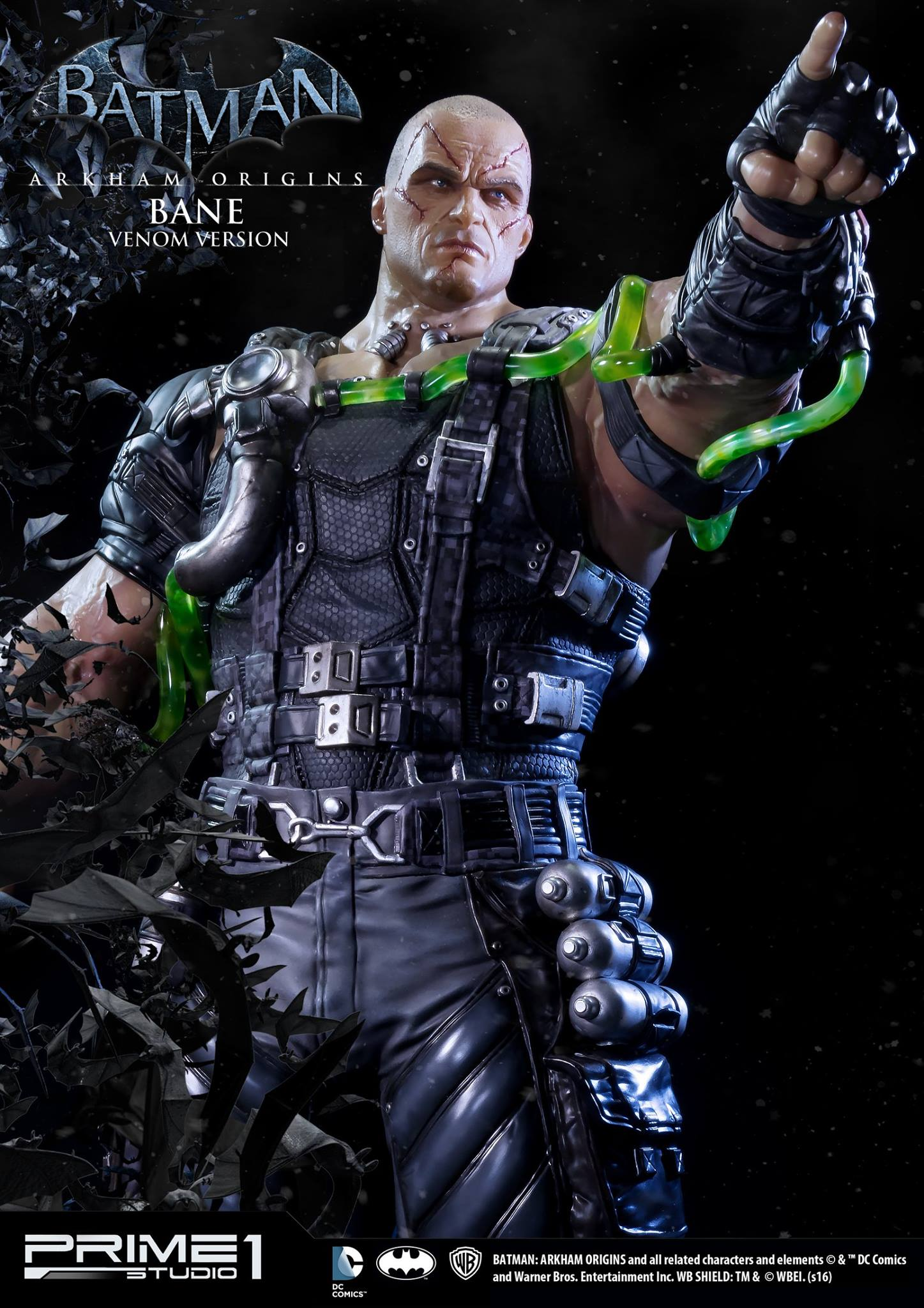 photos and details for arkham origins bane statues by