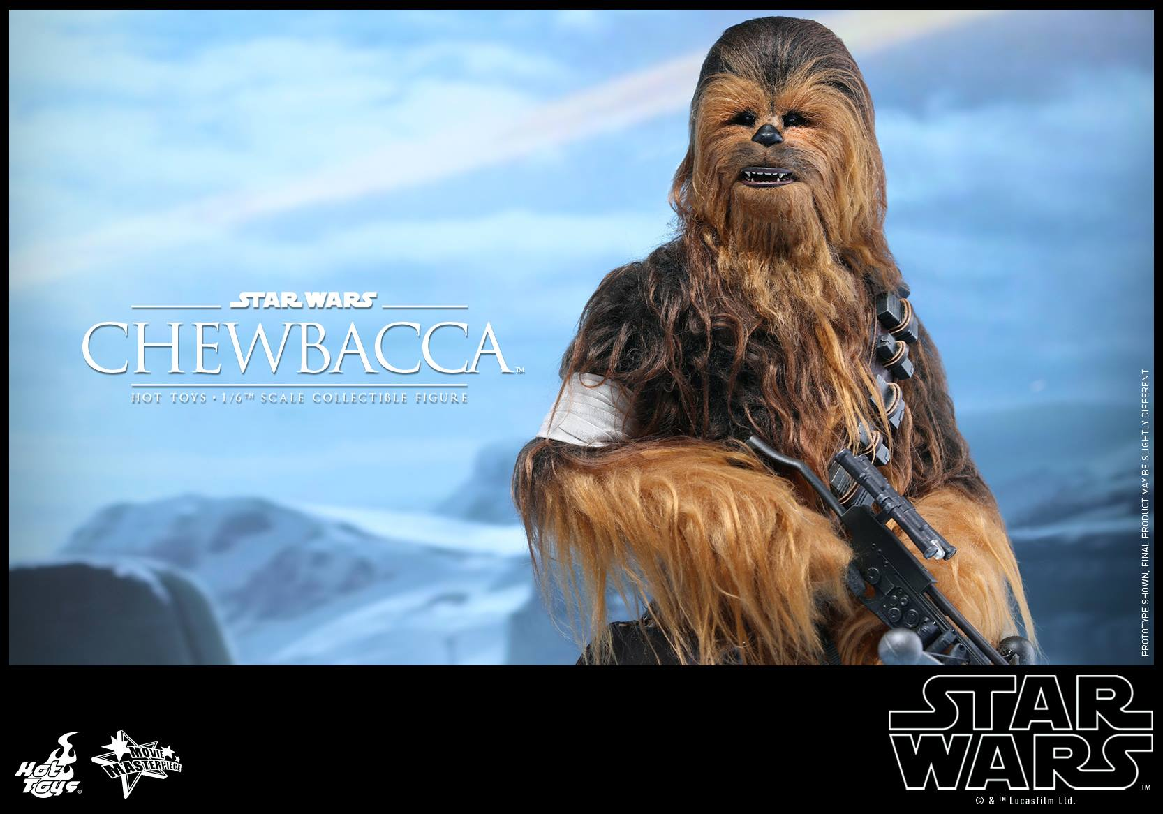 star wars the force awakens han solo and chewbacca by hot toys the toyark news. Black Bedroom Furniture Sets. Home Design Ideas