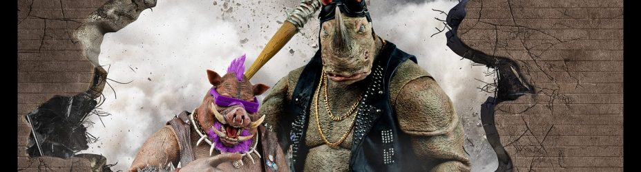 TMNT2 ThreeZero Bebop and Rocksteady
